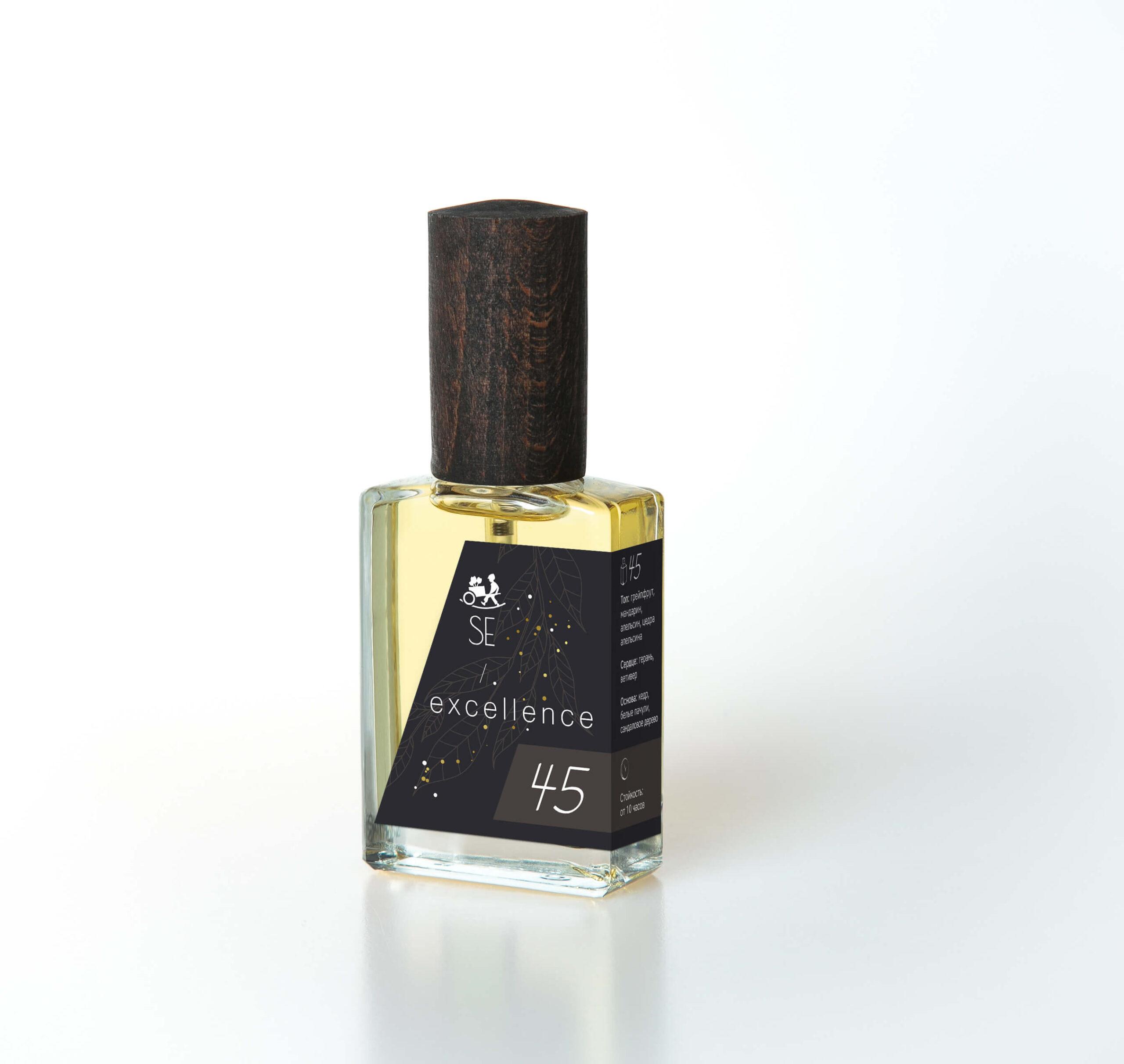 Насыщенный, цитрусово-древесный аромат