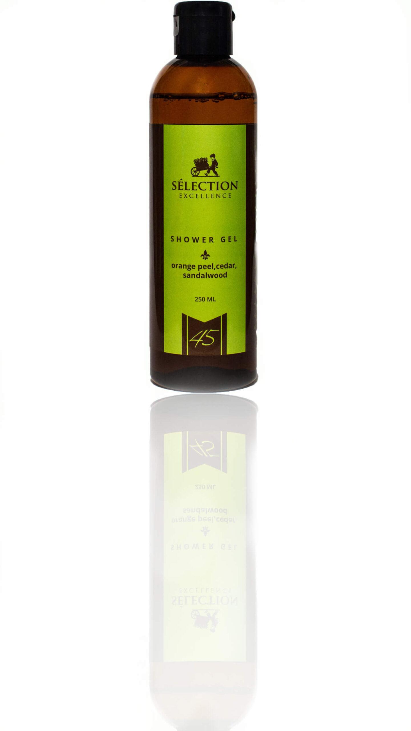 Гель для душа с цитрусово-древесным ароматом